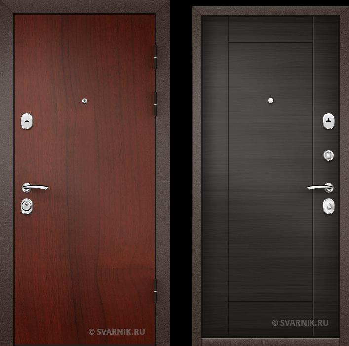 Дверь металлическая с замками KALE в коттедж ламинат - винорит