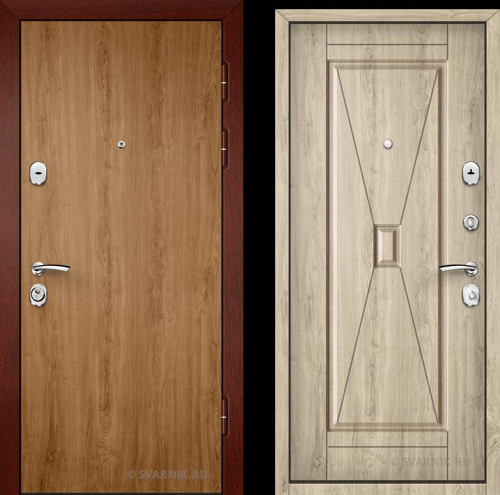Дверь входная правая в офис ламинат - массив
