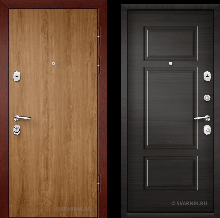 Дверь входная вторая в дом ламинат - массив