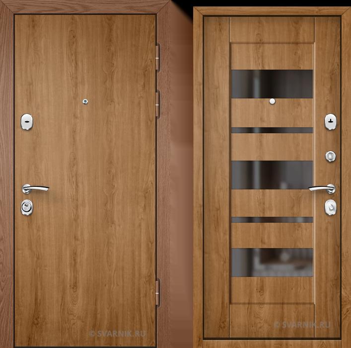 Дверь металлическая вторая на дачу ламинат - шпон
