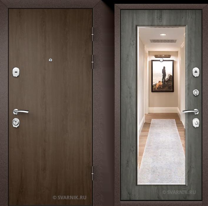 Дверь металлическая российская в офис ламинат - МДФ