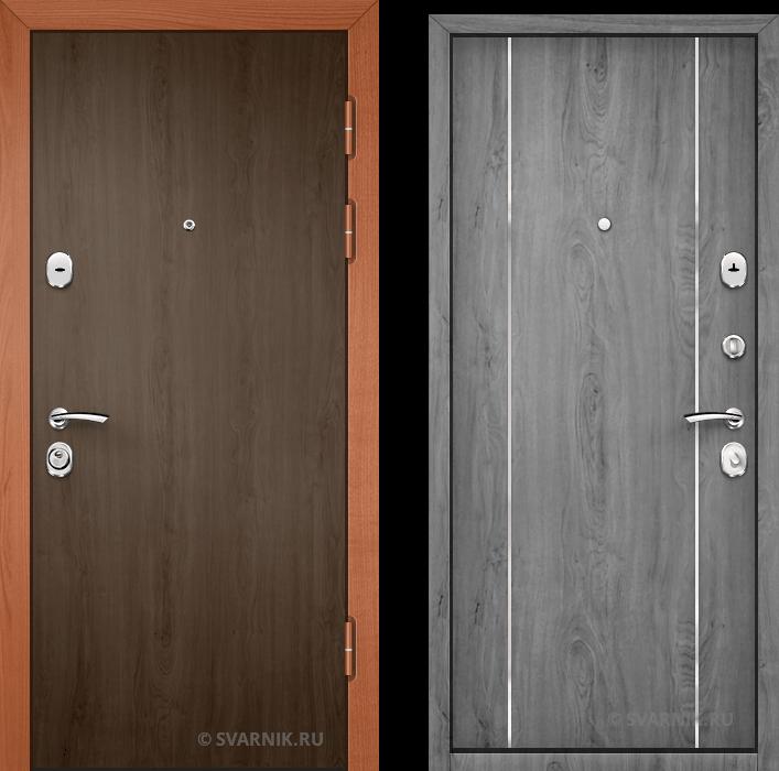 Дверь металлическая наружная уличная ламинат - МДФ