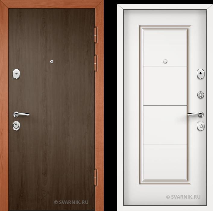 Дверь металлическая правая в квартиру ламинат - МДФ