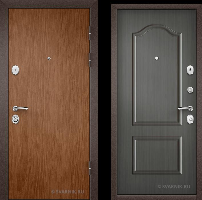 Дверь входная вторая уличная ламинат - массив