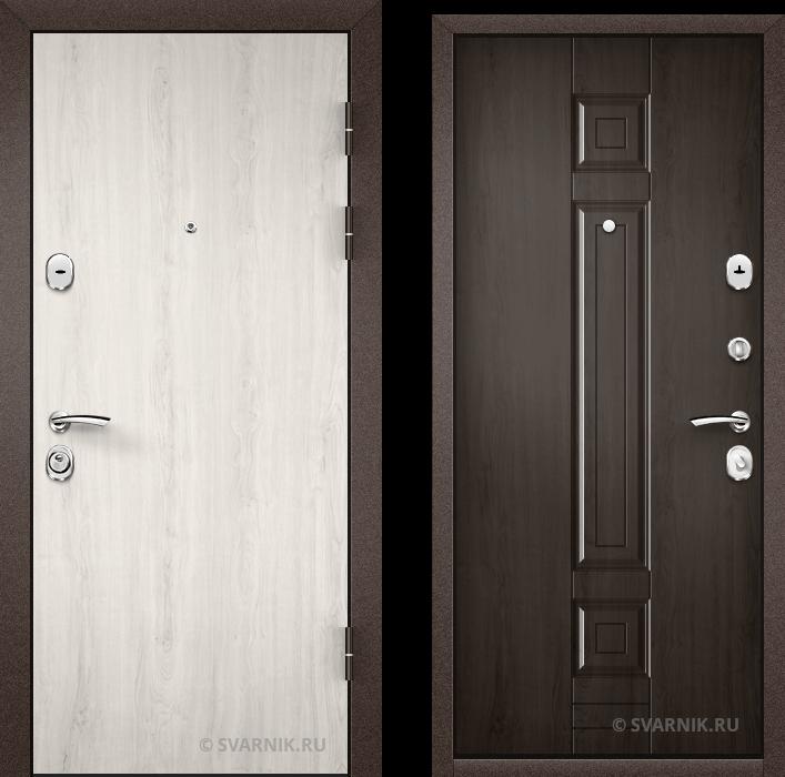 Дверь металлическая трехконтурная в квартиру ламинат - МДФ
