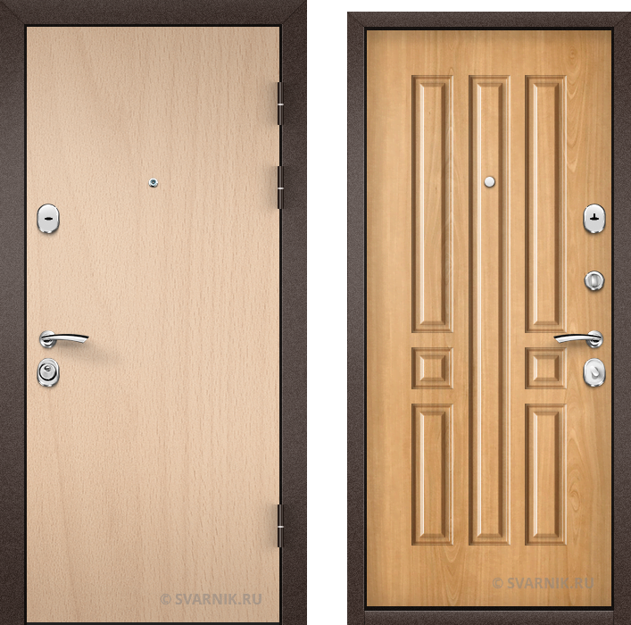 Дверь металлическая утепленная в квартиру ламинат - винорит